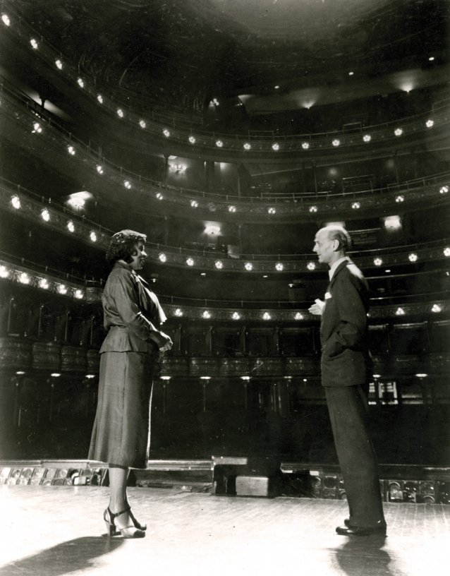Marian Anderson and Sir Rudolf Bing at the Metropolitan Opera House, New York City, 1954 Layne's Studio