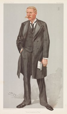 """First Conservative Whip""  Sir Alexander Fuller-Acland-Hood Bart MP (Image plate from Vanity Fair), 1903 by Sir Leslie Ward"