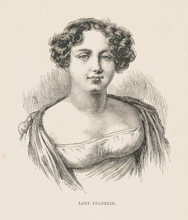 Lady Franklin, n.d. by A. Romilly, an unknown artist, J & S