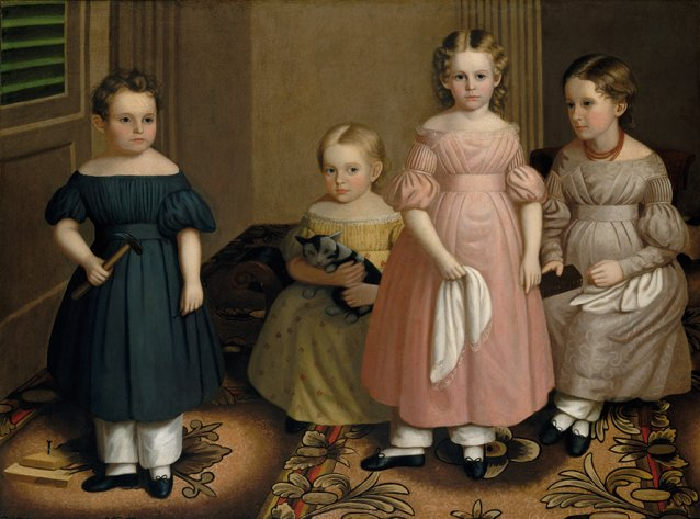The Alling Children c. 1839 by Oliver Tarbell Eddy