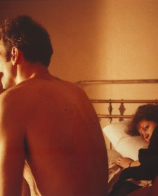 Nan and Brian in bed, New York City 1983 by Nan Goldin
