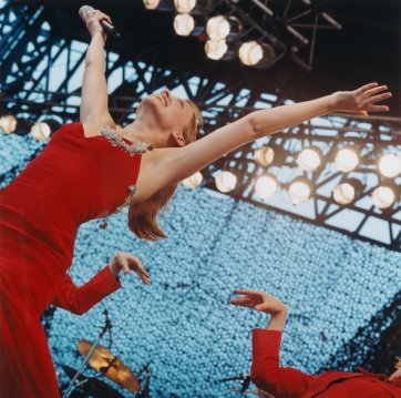 Untitled#15 from Tour of Duty series (Kylie Minogue performs at Tour of Duty concert at Dili Stadium, East Timor, 21 December 1999), 1999-2000 by Matthew Sleeth