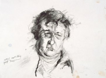 Study for portrait of Bob Ellis, 1999 David Naseby
