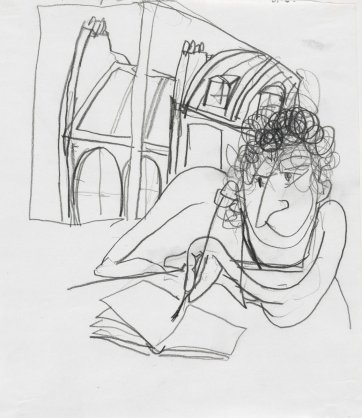 Self portrait, Paris, 1989 by Brett Whiteley