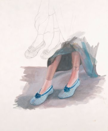 Study-slippers, 2011 by Robyn Sweaney