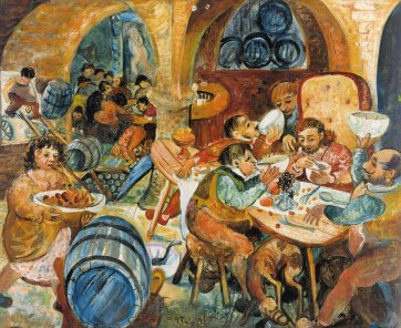 Christ Dining at Young and Jacksons, 1948 by John Perceval