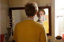 Josh Thomas, on-set still from Please Like Me series 1 by Giovanni Lovisetto