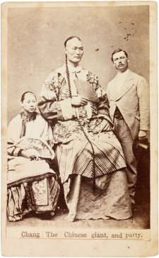 Chang the Chinese giant and party, c. 1871 Paterson Brothers