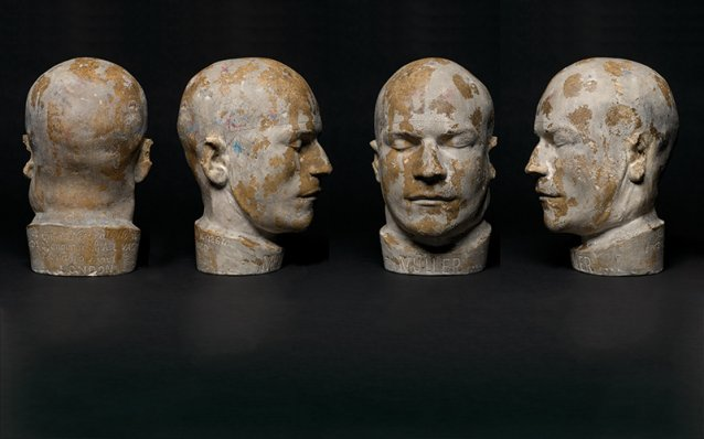 Death mask of Franz Muller, 1864 attributed to Cornelius Donovan