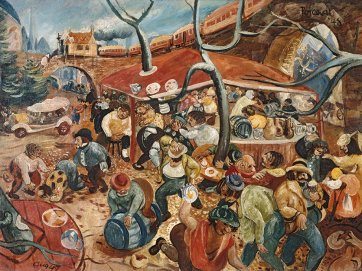 The Revellers c.1952, by John Perceval