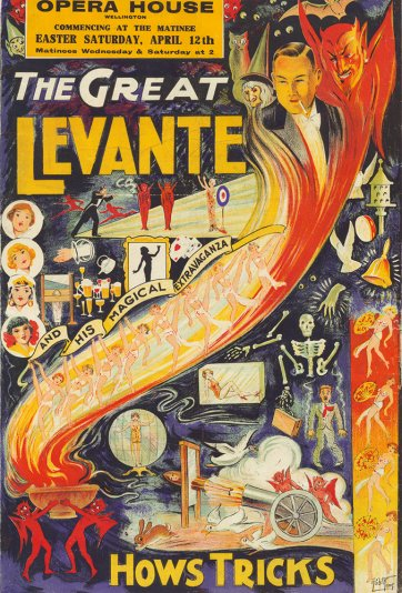 The Great Levante and his magical extravaganza, c.1924 by Robert Temp