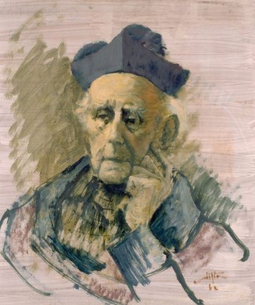 Study of Archbishop Daniel Mannix, 1962 by Clifton Pugh