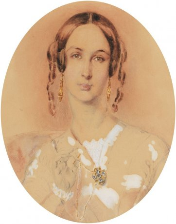 Martha Sarah Butler, c. 1845 Thomas Griffiths Wainewright