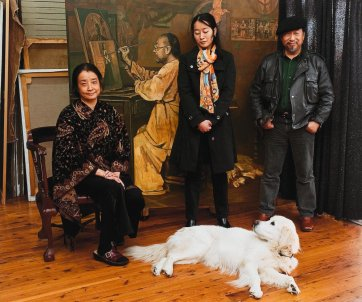 Wan Lan, Xini, Shen Jiawei and Billy, 2010 by Greg Weight
