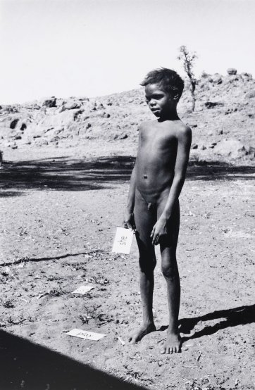 Pitjantjatjara schoolboy, Ernabella, South Australia, 1963 (printed 2000) by David Moore