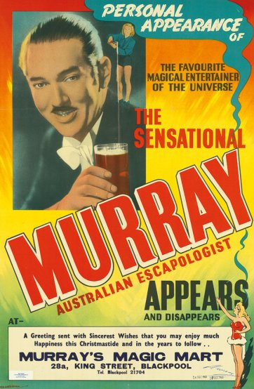 Personal appearance of... the sensational Murray Australian escapologist appears and disappears, 1963 by RC Waterman