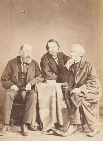 John Mitchel with John Martin and Father John Kenyon [the three Johns], 1866 by Edouard Gatel