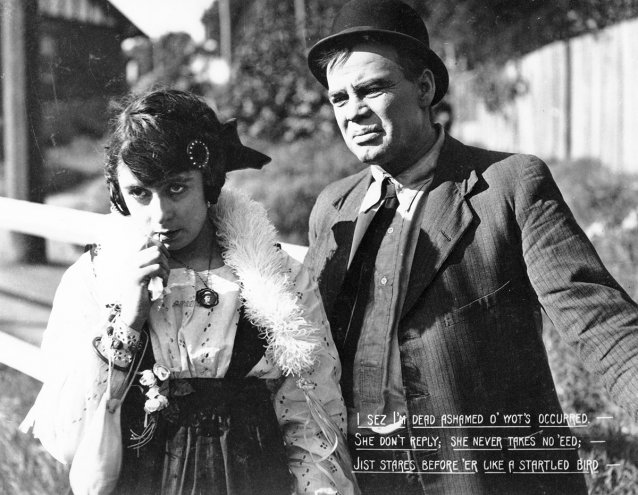 Lottie Lyell as Doreen and Arthur Tauchert as 'the Bloke'