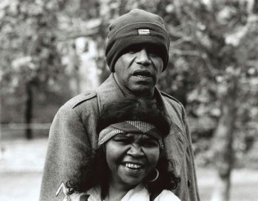Portrait of Archie Roach and Ruby Hunter, c. 1999 Terry Milligan. National Library of Australia. © Terry Milligan