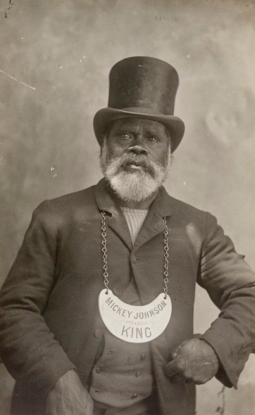 Mickey Johnson, c. 1896 by an unknown artist