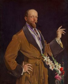 Self portrait with gladioli, 1922 George Lambert