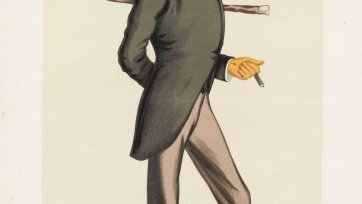 """Candidate for Chelsea"" 9th Earl of Kintore (Image plate from Vanity Fair), 1880 Sir Leslie Ward"