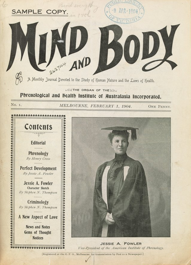 Mind and Body: A Monthly Journal Devoted to the Study of Human Nature and the Laws of Health, 1904 Phrenological and Health Institute of Australasia