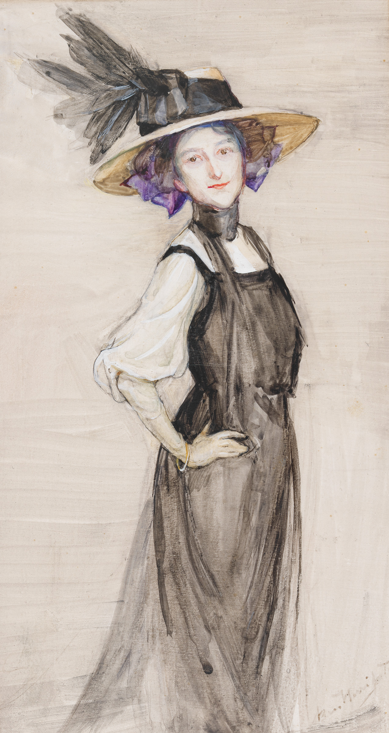 Self portrait, 1909 by Bess Norriss Tait