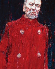John Bell as King Lear oil on Belgian linen, 2001 by Nicholas Harding