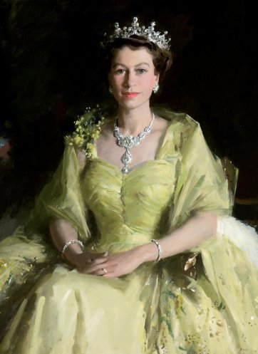 Her Majesty Queen Elizabeth II, 1954 by William Dargie