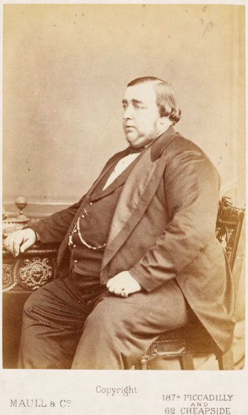 The Tichborne Claimant (Arthur Orton), c. 1872 by Maull & Co Photographers