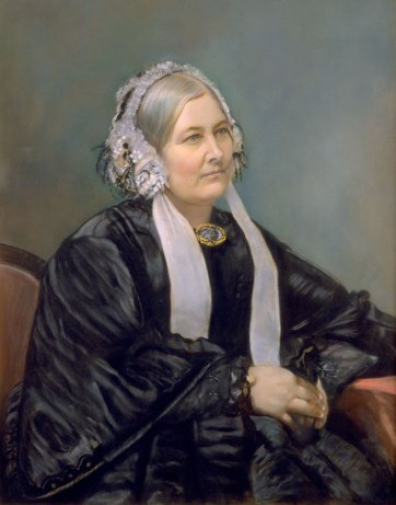 Portrait of Mrs Sarah Fairfax, c. 1864 by Edwin Dalton