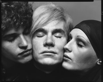 Andy Warhol, with Jay Johnson and Candy Darling, New York, August 20, 1969 by Richard Avedon
