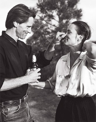 Jessica Lange and Sam Shepard, by Bruce Weber, 1984 publ. October 1984.
