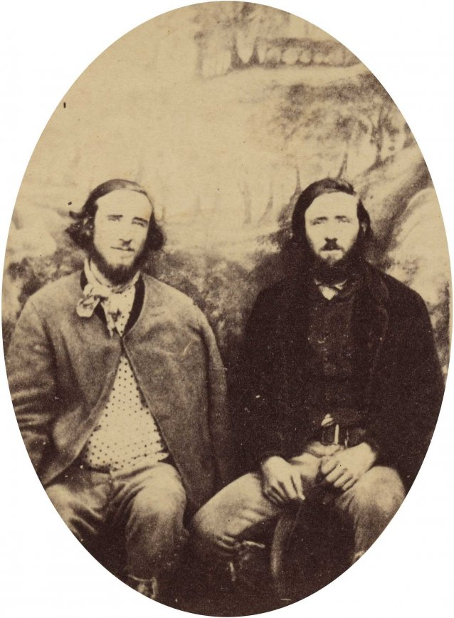 Thomas and John Clarke, bushrangers, photographed in Braidwood gaol