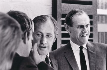 Sidney Nolan and Patrick White, Adelaide Arts Festival, c.1964 (printed 2015) by Robert McFarlane