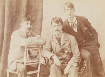 John Buckley Castieu, Lionel Lindsay and Norman Lindsay, c. 1897 by an unknown artist