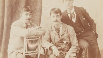 John Buckley Castieu, Lionel Lindsay and Norman Lindsay, c. 1897 an unknown artist