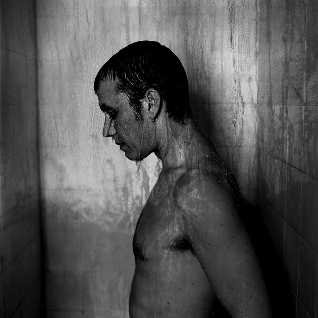 In the shower, 2006