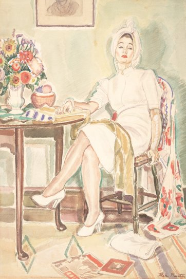 Woman in white, c. 1942