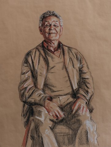 Study for Uncle Merv Cooper, 2009 by Mathew Lynn