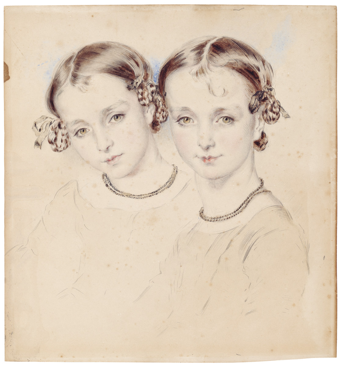 The Cutmear sisters, Jane and Lucy, c. 1842
