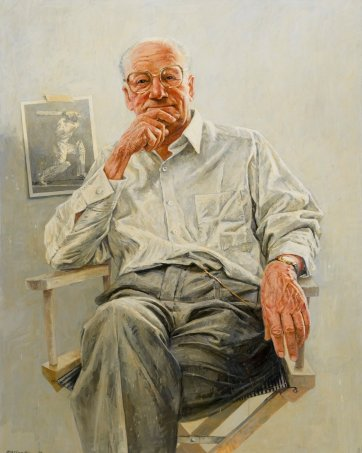 Sir Donald Bradman, 1990 by Bill Leak