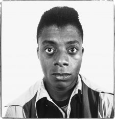James Baldwin, writer, Harlem, New York 1945 by Richard Avedon