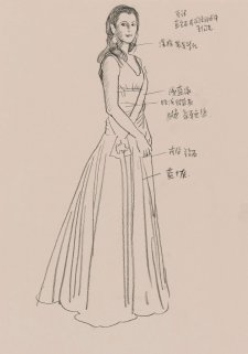 Study for commissioned portrait of HRH Crown Princess Mary of Denmark (full length sketch), 2005 by Jiawei Shen