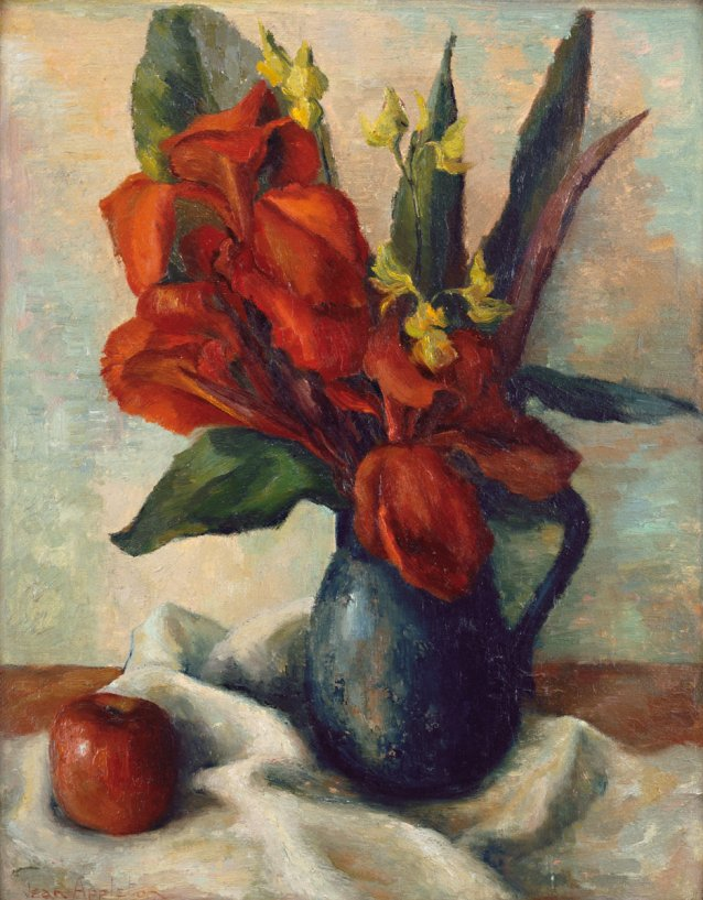 Red Cannas, 1948 by Jean Appleton