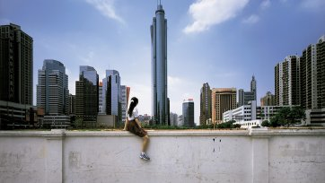 On the wall - Guangzhou (II), 2002