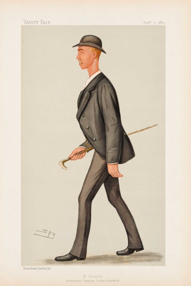 H Searle Professional Champion Sculler of the World (Henry Searle) (Image plate from Vanity Fair)
