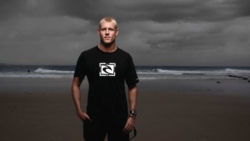 Mick Fanning at Snapper Rock, 2010 by Andrew Maccoll