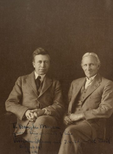 TW Edgeworth David and Vilhjalmur Stefansson, 1924 by May Moore